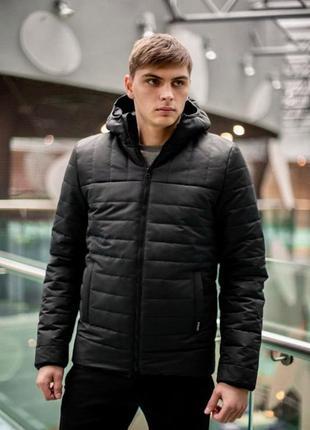 Демисезонная мужская куртка intruder 'temp' черная чоловіча куртка