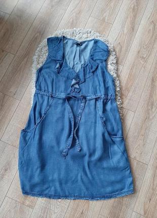 Фирменный джинсовый сарафан для беременных