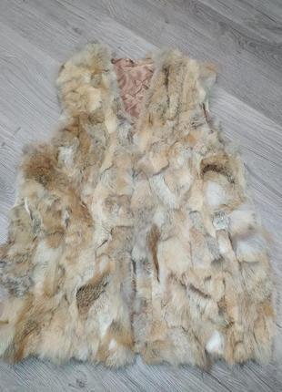 Меховая жилетка, жилетка из лисицы