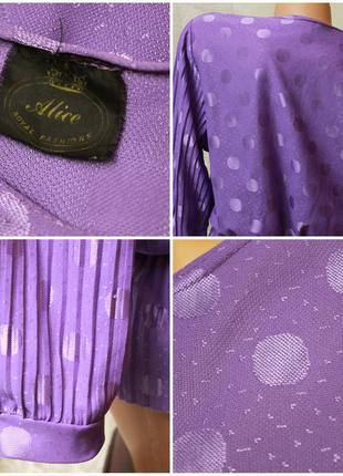 Блуза в горошек,с баской,рукав3/4,ретро,р.xl-xxl4 фото