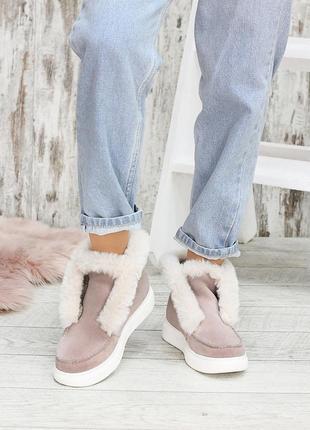 Меховые полуботинки ботинки