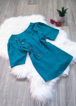 Изумрудная блуза с пуговицами 😍