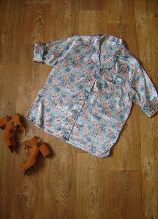 Рубашка/накидка в пижамном стиле