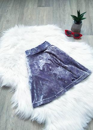 Бархатная юбка с карманами 😍