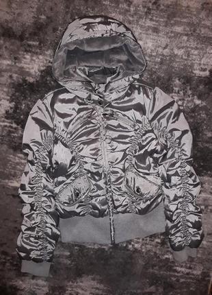 Курточка демисезонная серебристая