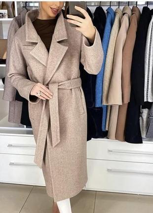 Must have нового сезона - потрясающее шерстяное пальто-халат