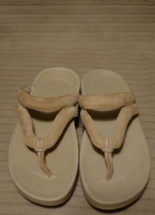 Легкие комфортные кожаные фитнес шлепанцы  fitflop style:188 - 197 сша. 39 р.