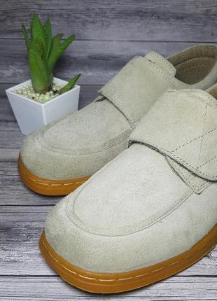 Замшевые очень крутые мокасины туфли 44