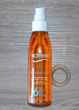 Водостойкое шелковистое масло для загара biotherm