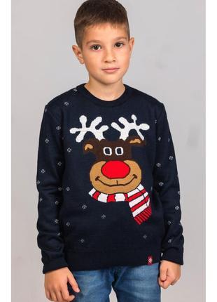В'язаний светр для хлопчика різдвяний