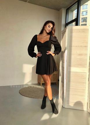 Роскошное платье на плечи черный пудра бордо неви