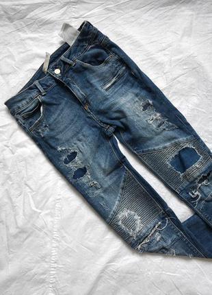 Модные скини джинсы pull&bear