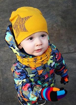 Комплект шапка+шарф весна