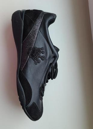 Кроссовки  fornarina с апликацией чёрными стразами