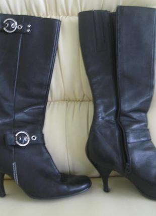 Сапожки кожаные демисезон