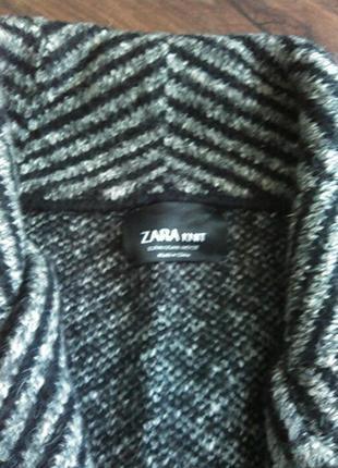 Пальто в елочку в составе шерсть zara оригинал