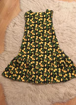 Платье в яркий лимон размер м l украинский производитель