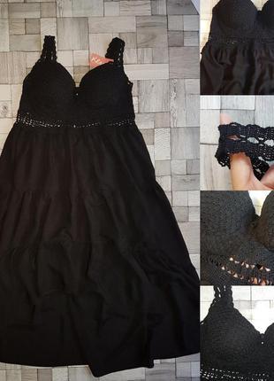 Шикарное вязаное платье крючком