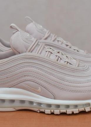 Кроссовки с баллонами пыльно-лилового цвета nike air max 97 gg, 37.5 размер. оригинал