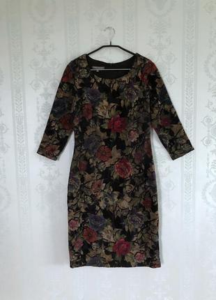 Брендовое платье в цветочный принт от laura ashley платье карандаш миди!