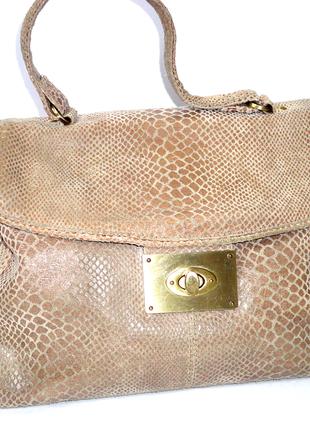 Кожаная сумка   (30х24 руч.32см) замшевая сумка