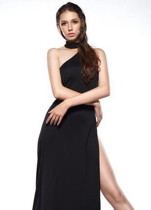 Откровенное вечернее платье на одно плечо missguided с высоким разрезом  dr47114