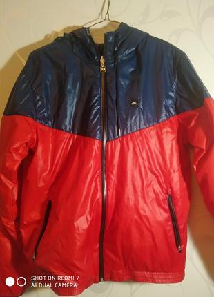 Nike ветровка- куртка двухсторонняя