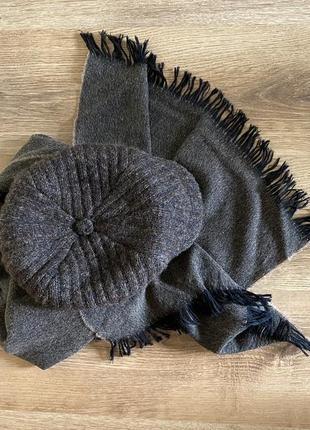 Шерстяная кепка и шарф