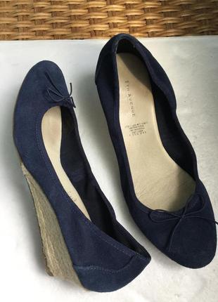 Туфли замшевые 5 авеню, на ср и шире ногу