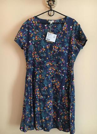 Батал большой размер новое натуральное брендовое платье платьице плаття миди