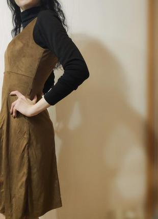 Замшевое платье от orsay, размер xs-s