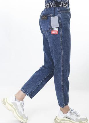 Мом джинсы с высокой посадкой miss bonbon
