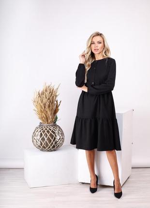 Платье осень-зима из замши