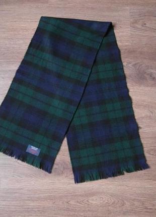 Шерстяной в клетку шарф highland buchan.