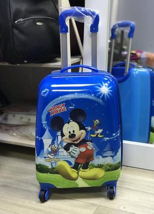 Уценка! детский пластиковый чемодан с микки маусом