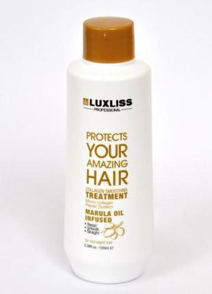 Ботокс для сильно повреждённых волос luxliss collagen 100 мл