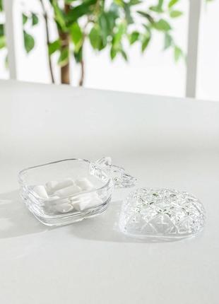 Ваза для конфет. цукорниця, скляна тарілка для цукерок, декоративна тарілка.