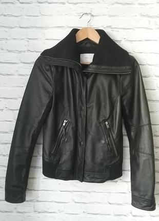 Кожаная курточка с трикотажными вставками only