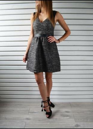 Короткое платье сукня сарафан с люрексовой нитью