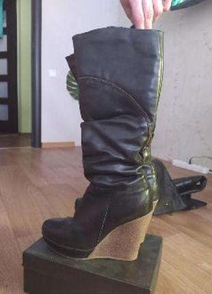 Теплейшие зимние кожаные сапоги для женщины