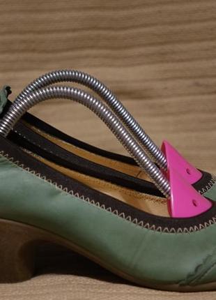 Красивые кожаные туфли мятного цвета waschbär швейцария 36 р. ( 22,8 см.)