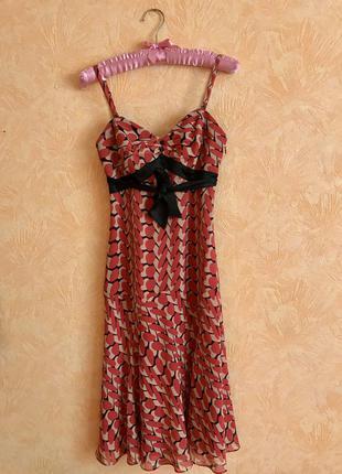 Новое шикарное платье 100% шелк ted baker 8рр  ted baker