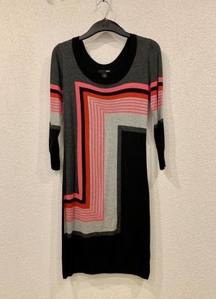 Женское тёплое вязанное платье тонкой вязки деми зимнее миди