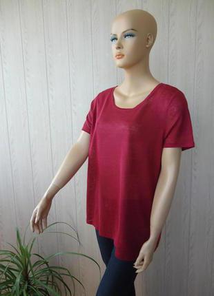 H&m красная футболка,100 % лен