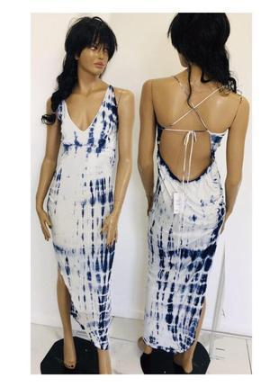 Новое тонкое плаяжное платье на купальник в стиле бохо с открытой спиной шнуровкой asos