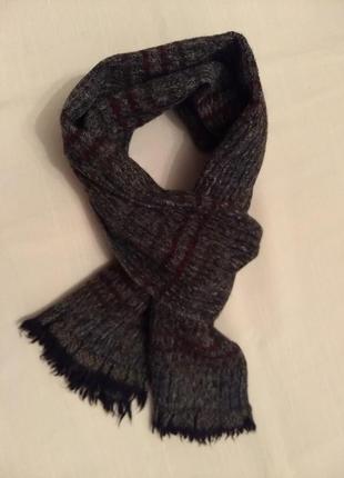1 + 1 = 3 шарф тканый шерстяной двусторонний мужской шалик+ 300 шарфов на странице