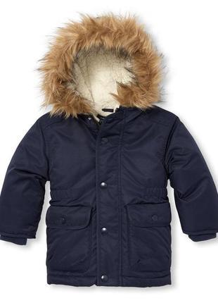 Синяя куртка парка children's place на 18-24 мес.
