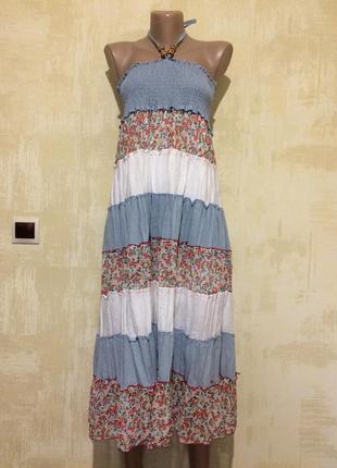 Комбинированный  коттоновый сарафан,платье,туника!!