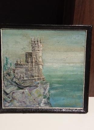 Картина ласточкино гнездо. ручная работа художника