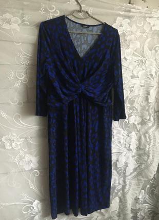 Батал большой размер стильное нарядное платье платьице плаття миди темное